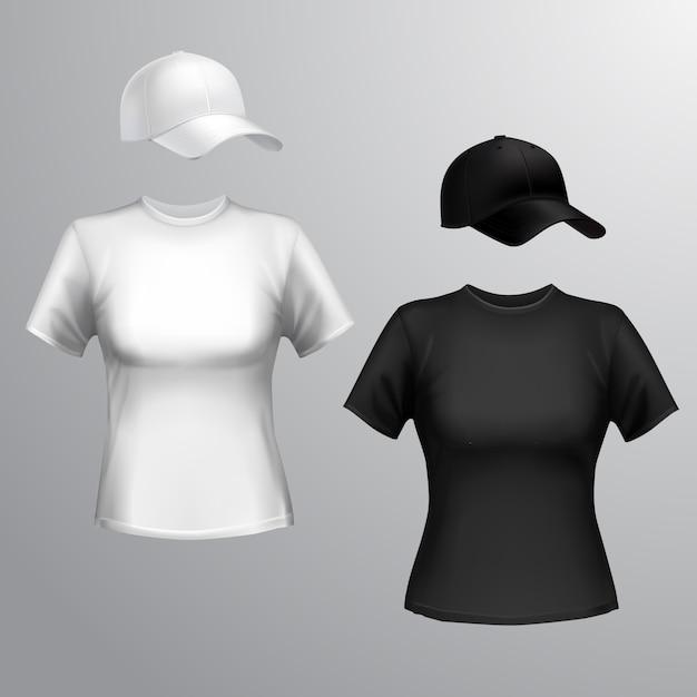 T-shirt à manches longues Vecteur Premium