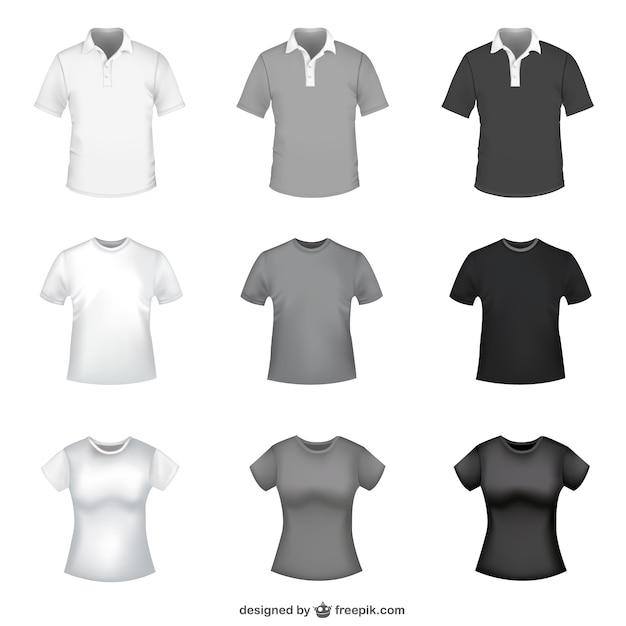 T-shirt Modèles Vecteur Libre Vecteur gratuit