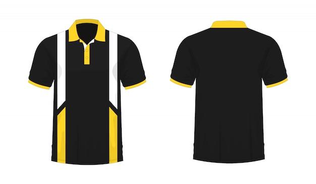 T-shirt Polo Jaune Et Noir T Illustration Vecteur Premium