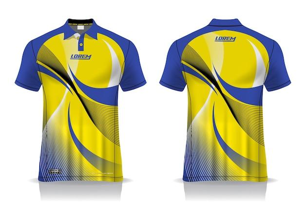 T-shirt Polo Sport Design, Maquette De Maillot De Badminton Pour Modèle Uniforme Vecteur Premium