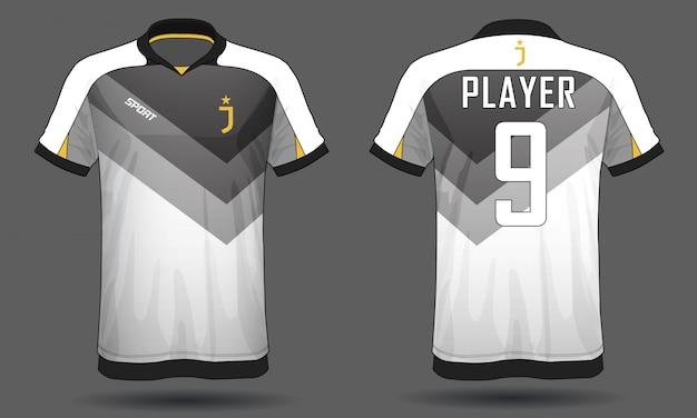 T-shirt De Sport En Jersey De Football Vecteur Premium