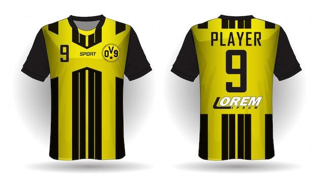 T-shirt De Sport En Jersey De Football. Vecteur Premium