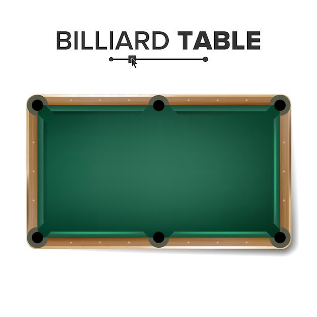 Table de billard Vecteur Premium