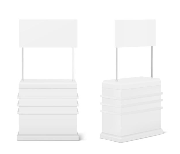 Table De Comptoir De Promotion, Affichage Commercial D'exposition Portable Vecteur gratuit