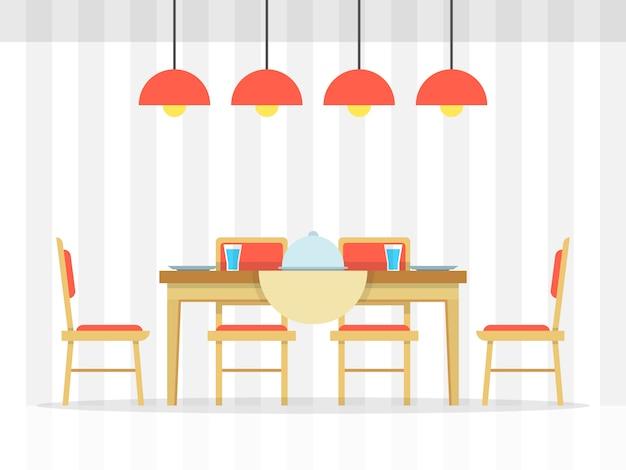 Table à Manger Vecteur Premium