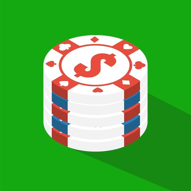 Table de poker plat Vecteur Premium