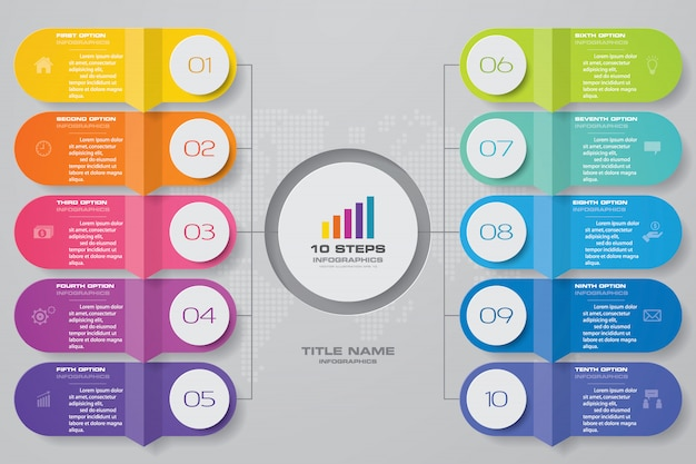 Tableau abstrait pour la présentation des données. Vecteur Premium