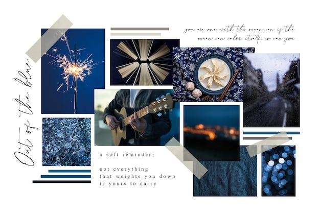 Tableau D'ambiance Créatif Bleu Nuit Vecteur gratuit