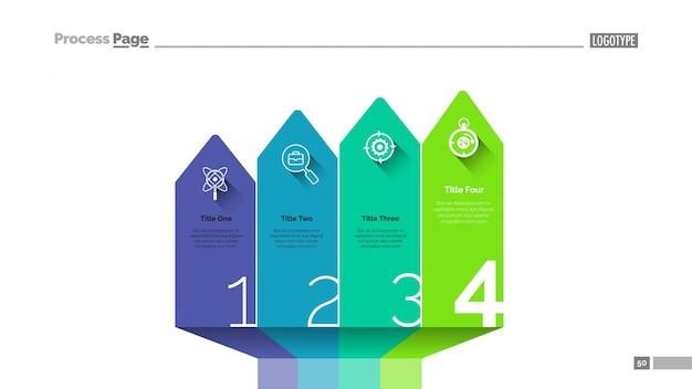 Tableau des diapositives Vecteur gratuit
