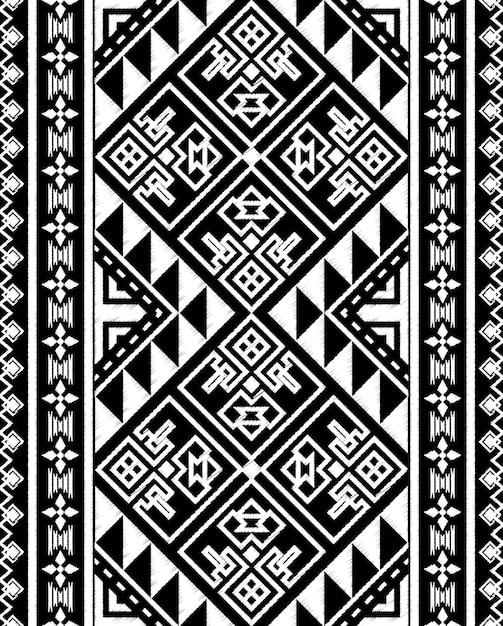 Tableau Doodle Modèle Sans Couture Tribal Aztèque Vecteur Premium