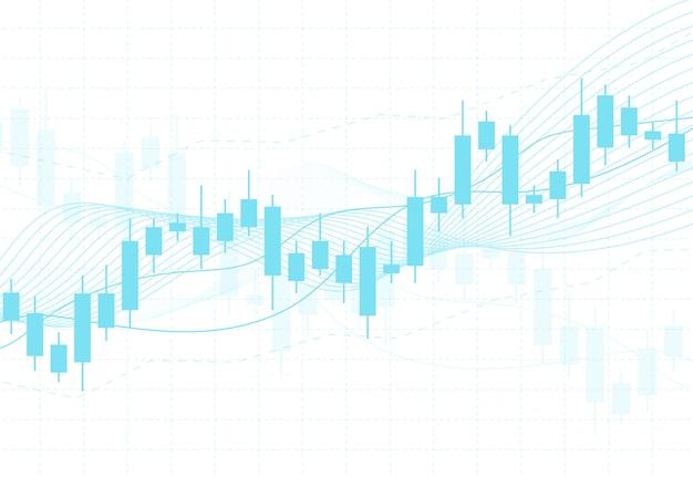 Tableau graphique de bougie bâton des investissements boursiers Vecteur Premium