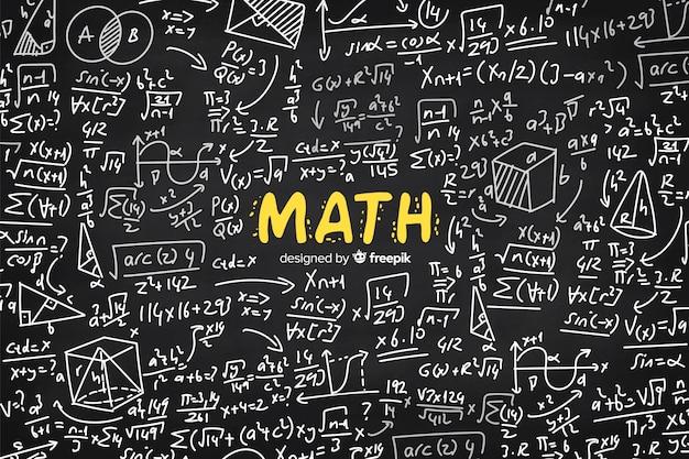 Tableau De Maths Vecteur Premium