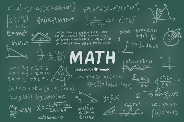 Tableau de maths Vecteur gratuit