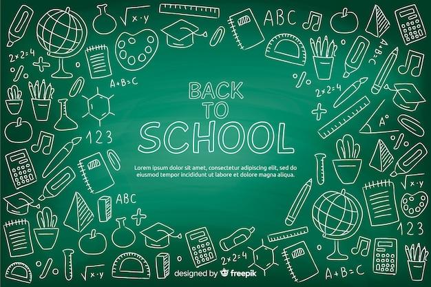 Tableau noir au fond de l'école Vecteur gratuit