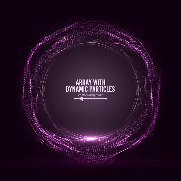 Tableau avec des particules dinamic vector with splash Vecteur Premium