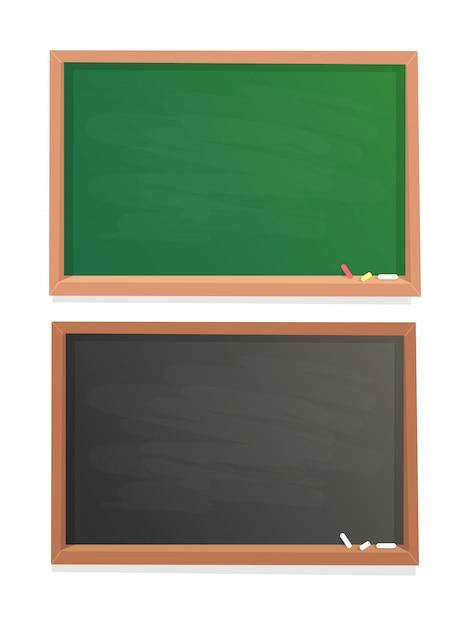 Tableau vide école Vecteur Premium