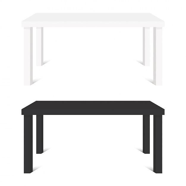 Tables blanches et noires Vecteur Premium
