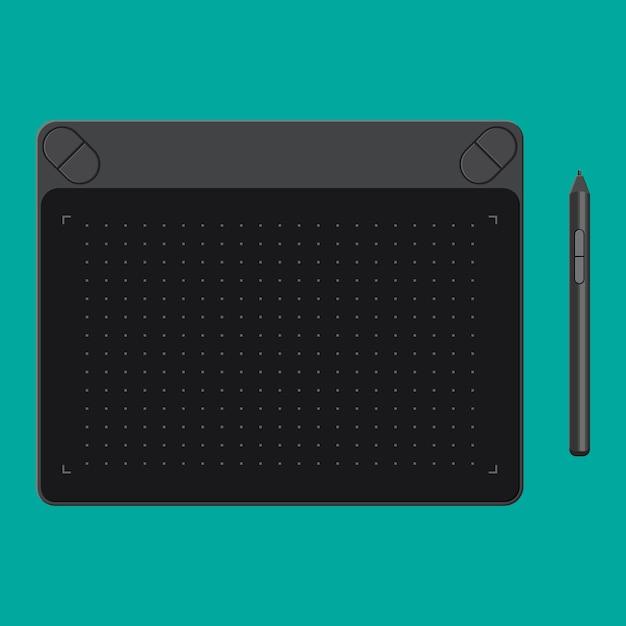 Tablette Graphique. Onglet Et Stylo. Vecteur Premium