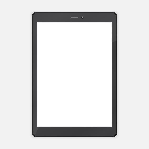 Tablette tendance abstraite noire Vecteur Premium
