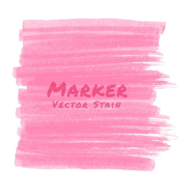 Tache De Marqueur Rose Vecteur Premium