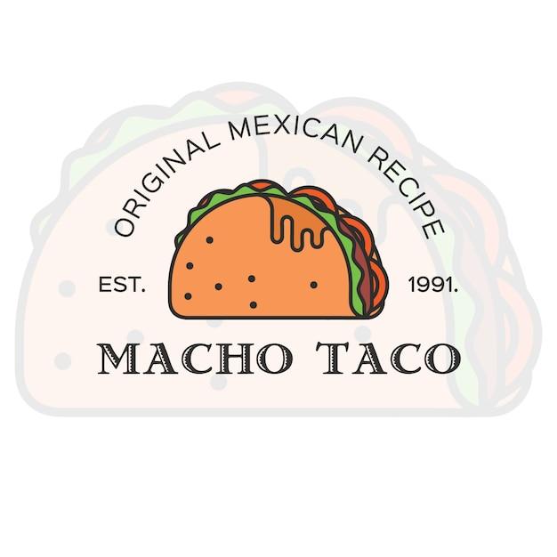 Taco carte de visite Vecteur gratuit