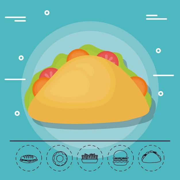 Taco Pour Pique-nique D'été En Famille Vecteur Premium