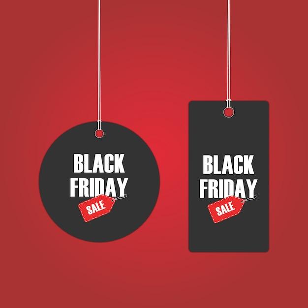 Tags de vendredi noir Vecteur Premium