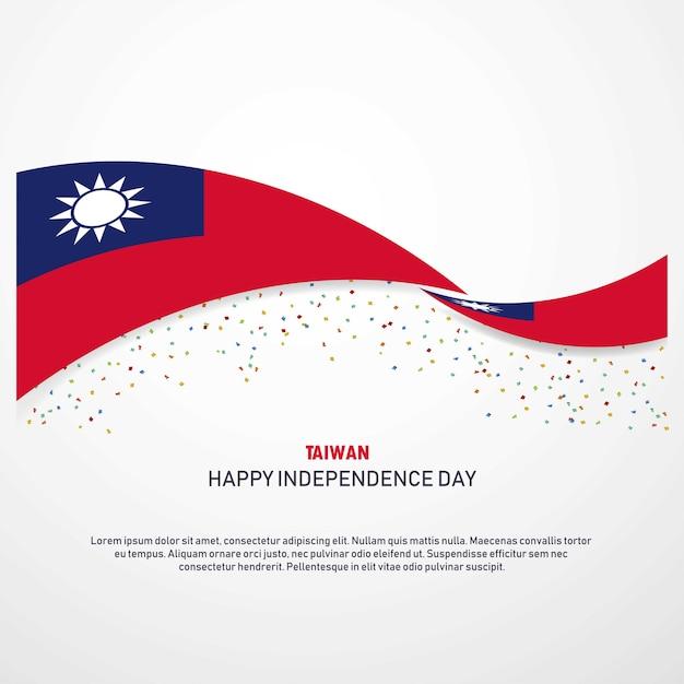 Taiwan Joyeux Jour De L'indépendance Vecteur Premium