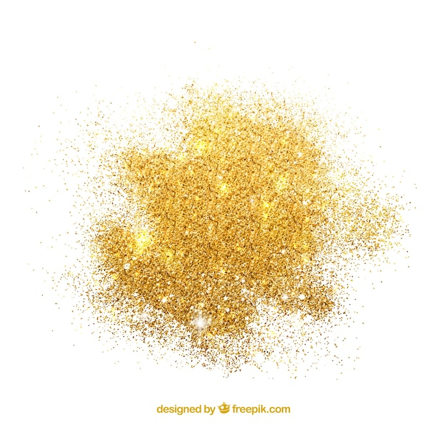 Tas de paillettes dans un style doré Vecteur gratuit