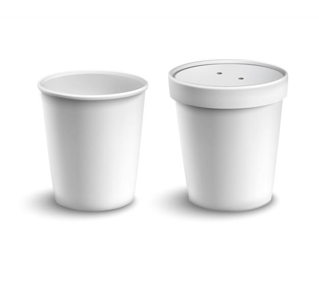 Tasse à café en blanc Vecteur gratuit