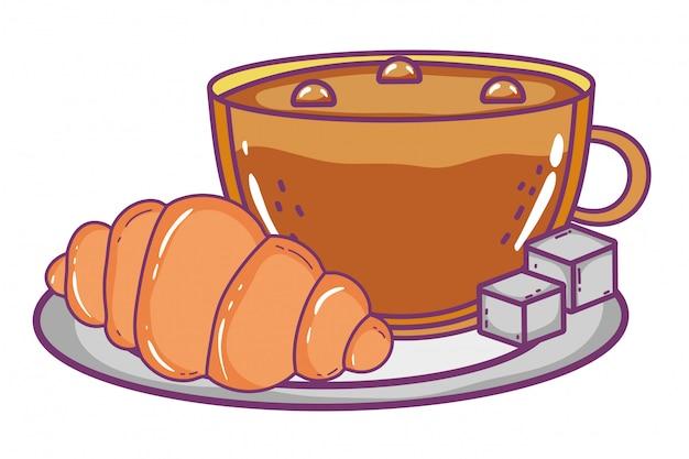 Tasse de café isolé Vecteur Premium