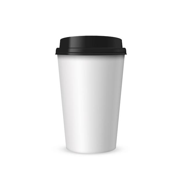 Tasse de café en papier réaliste Vecteur Premium