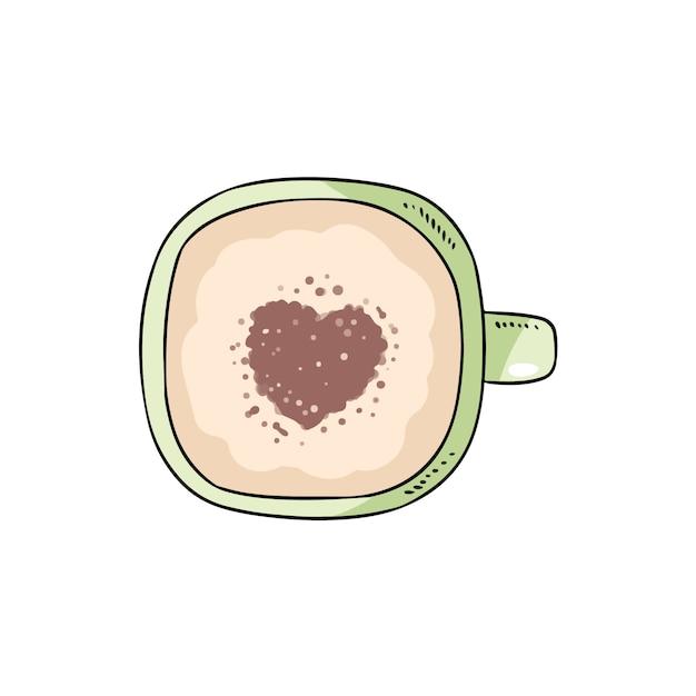 Tasse de café Vecteur Premium