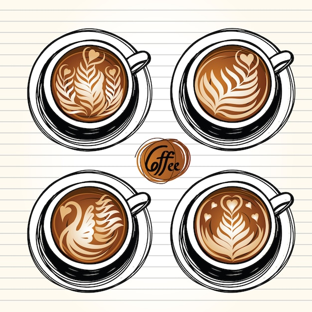 Tasse à café Vecteur Premium
