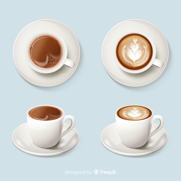 Tasses de café Vecteur gratuit