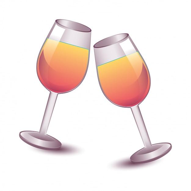 Tasses à cocktail Vecteur gratuit