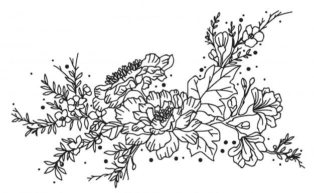 Tatouage De Fleurs Vecteur Premium