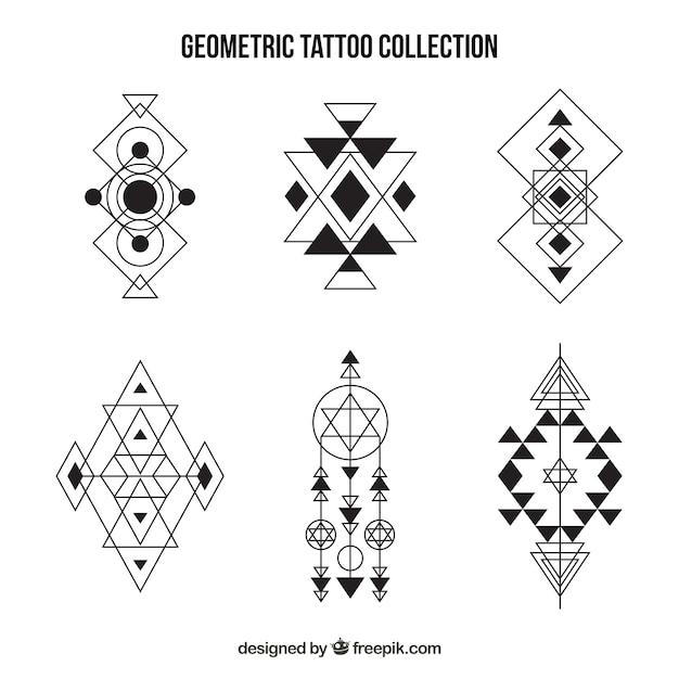 Tatouages Ensemble De Formes Geometriques Telecharger Des