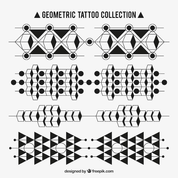 Tatouages ensemble De Formes Géométriques Vecteur gratuit