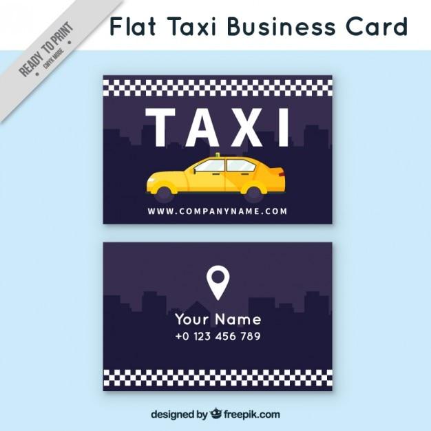 En Taxi Plat Carte De Visite
