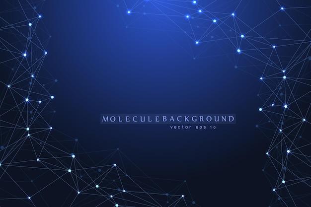 Technologie Abstraite De Concept De Connexion Réseau. Connexions Réseau Mondiales Avec Des Points Et Des Lignes. Visualisation De Big Data. Infographie Futuriste. Vecteur Premium