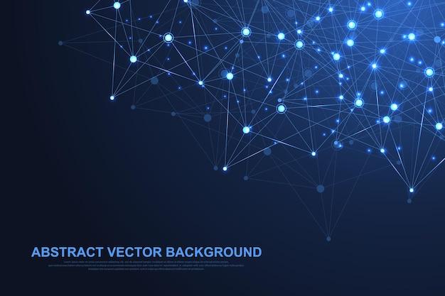 Technologie Abstraite De Concept De Connexion Réseau. Vecteur Premium