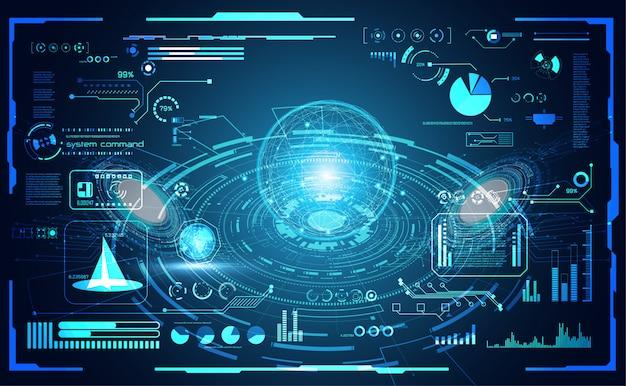 Technologie abstraite mondiale numérique Vecteur Premium