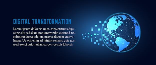 Technologie abstraite Vecteur Premium
