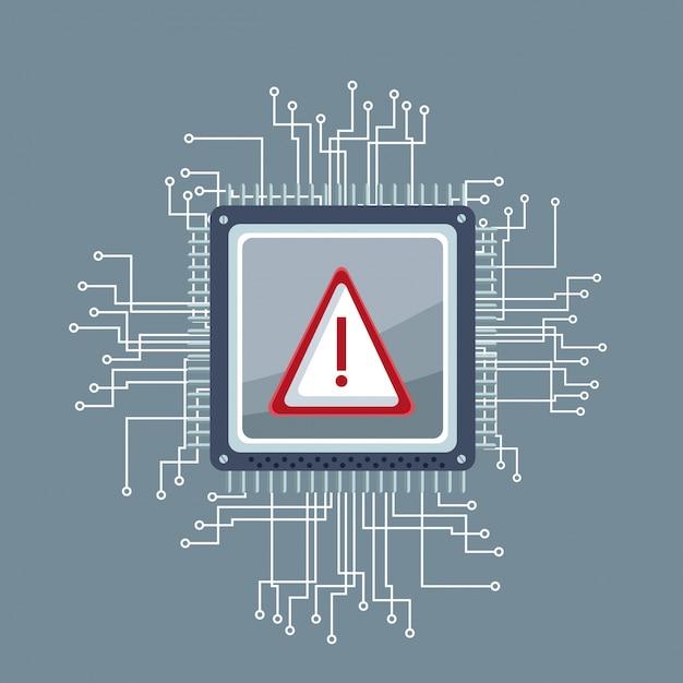 Technologie De Circuit Microchip Vecteur Premium