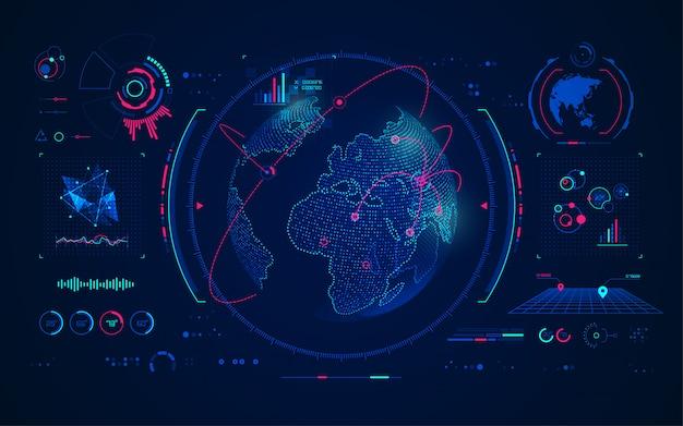 Technologie De Communication Globale Vecteur Premium