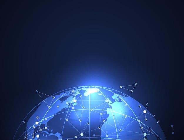 Technologie De Conception Et Science Du Réseautage Vecteur Premium