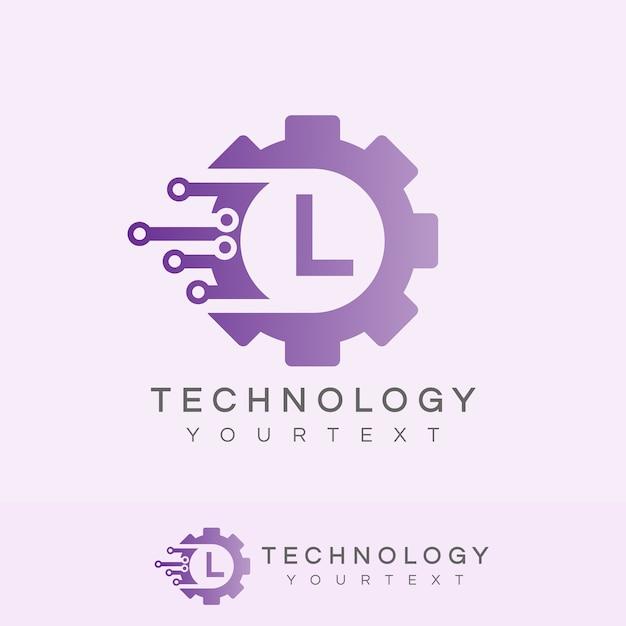 Technologie Initiale Lettre L Logo Design Télécharger Des