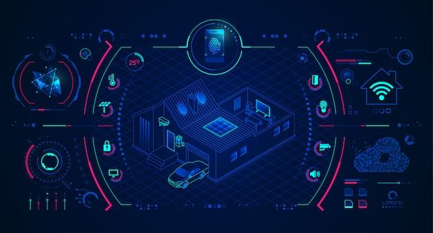 Technologie De La Maison Intelligente Vecteur Premium