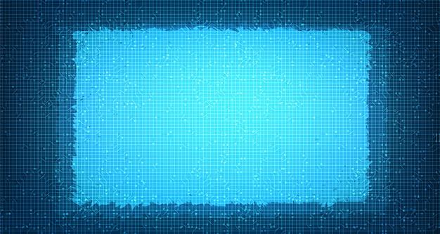 Technologie de micropuce de circuit d'éclairage sur le futur, le numérique de pointe et la conception de réseaux Vecteur Premium